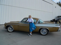 Lois Bowman donated her 1957 Studebaker Golden Hawk to the Western Antique Aeroplane and Automobile Museum.
