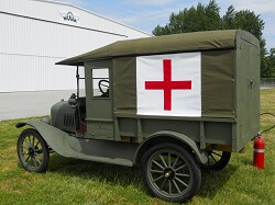 Western Antique Aeroplane and Automobile Museum's 1919 Model T Army Ambulance has been restored.