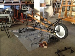 The Western Antique Aeroplane and Automobile Museum's 1910 Curtiss Pusher body is taking shape once again.